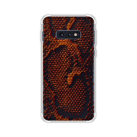 Snakes - Burnt Red Skin Soft Flex Tpu Case For Samsung Galaxy S10e