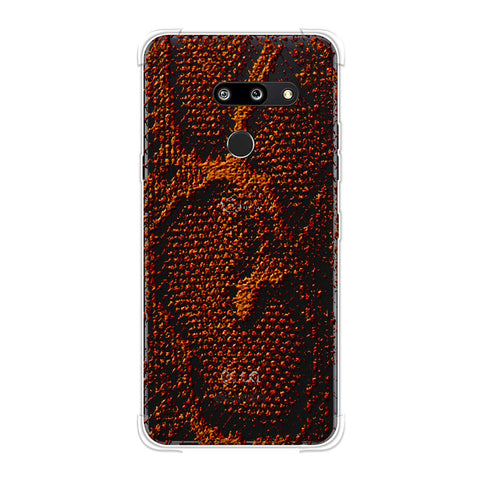 Snakes - Burnt Red Skin Soft Flex Tpu Case For LG G8 ThinQ