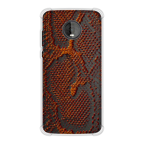 Snakes - Burnt Red Skin Soft Flex Tpu Case For Motorola Moto Z4