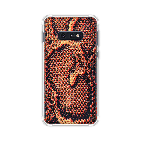 Snakes - Neon Orange Skin Soft Flex Tpu Case For Samsung Galaxy S10e