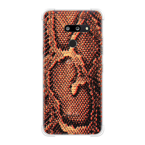 Snakes - Neon Orange Skin Soft Flex Tpu Case For LG G8 ThinQ