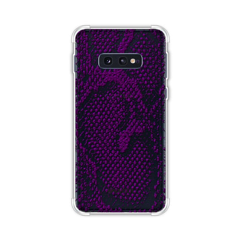 Snakes - Dark Purple Skin Soft Flex Tpu Case For Samsung Galaxy S10e