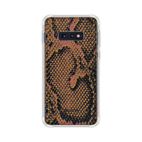 Snakes - Mustard Yellow Skin Soft Flex Tpu Case For Samsung Galaxy S10e