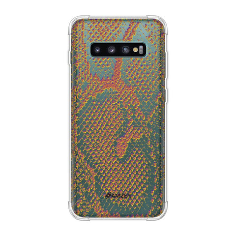 Snakes - Mustard Yellow Skin Soft Flex Tpu Case For Samsung Galaxy S10 Plus