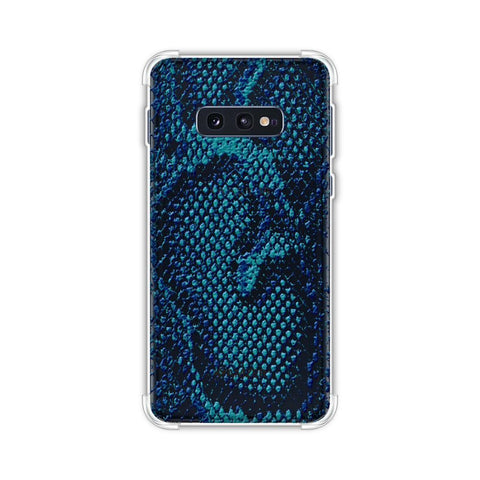 Snakes - Sea Blue Skin Soft Flex Tpu Case For Samsung Galaxy S10e