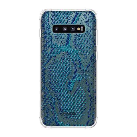 Snakes - Sea Blue Skin Soft Flex Tpu Case For Samsung Galaxy S10 Plus