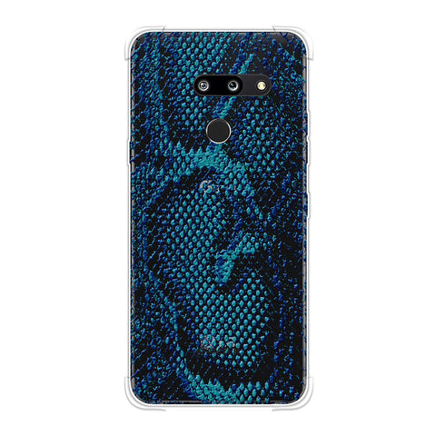 Snakes - Sea Blue Skin Soft Flex Tpu Case For LG G8 ThinQ