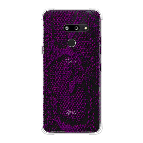 Snakes - Plum Skin Soft Flex Tpu Case For LG G8 ThinQ