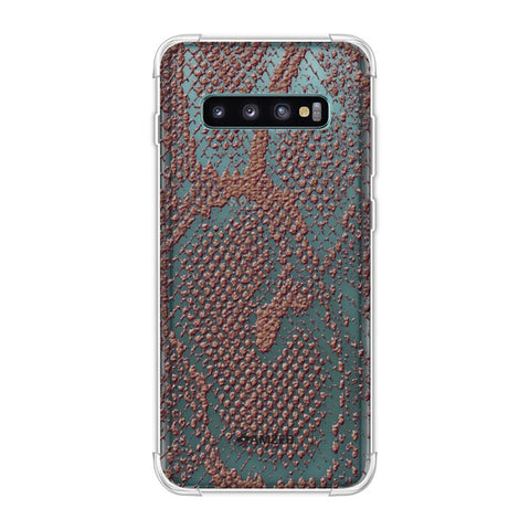 Snakes - Diffused Maroon Skin Soft Flex Tpu Case For Samsung Galaxy S10 Plus