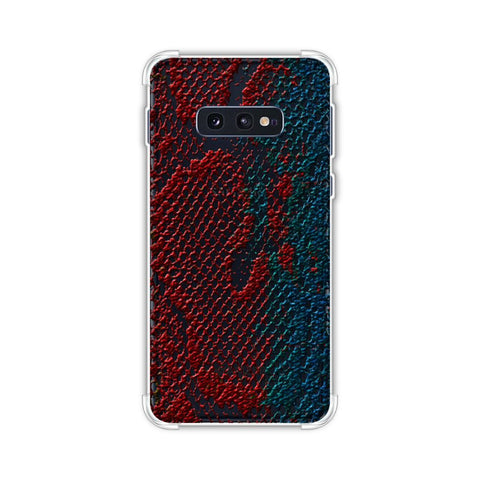Snakes - Coral And Blue Ombre Skin Soft Flex Tpu Case For Samsung Galaxy S10e