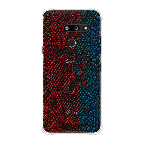 Snakes - Coral And Blue Ombre Skin Soft Flex Tpu Case For LG G8 ThinQ