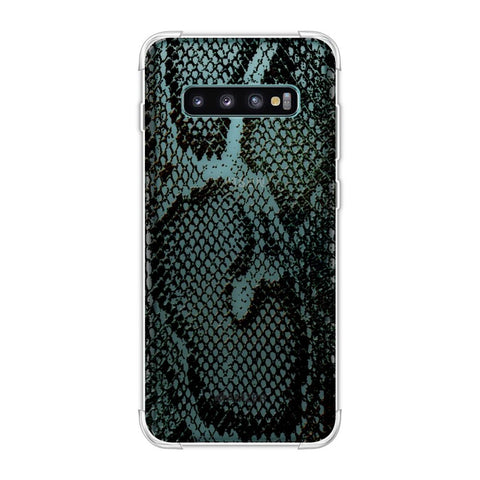 Snakes - Dark Green Pop Skin Soft Flex Tpu Case For Samsung Galaxy S10 Plus