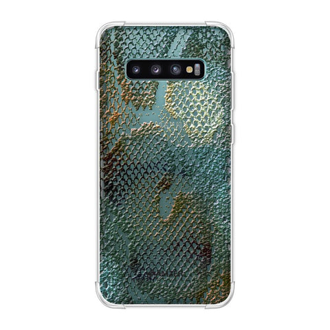 Snakes - Green Spotlight Photographic Effect Soft Flex Tpu Case For Samsung Galaxy S10 Plus