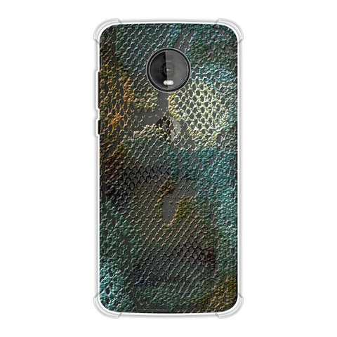 Snakes - Green Spotlight Photographic Effect Soft Flex Tpu Case For Motorola Moto Z4