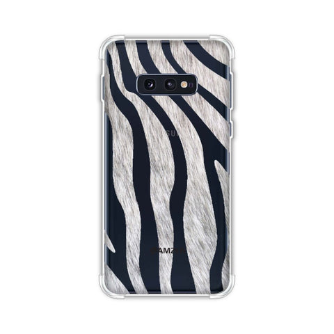 Zebra - Black And White Stripes Hair Effect Soft Flex Tpu Case For Samsung Galaxy S10e