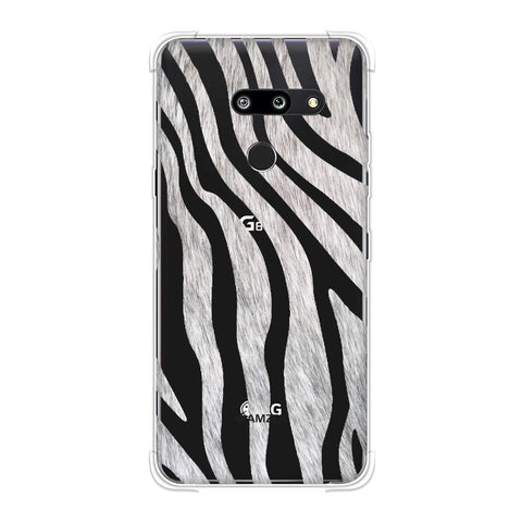 Zebra - Black And White Stripes Hair Effect Soft Flex Tpu Case For LG G8 ThinQ
