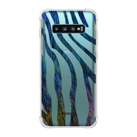 Zebra - Rainbow Stripes Hair Effect Soft Flex Tpu Case For Samsung Galaxy S10 Plus