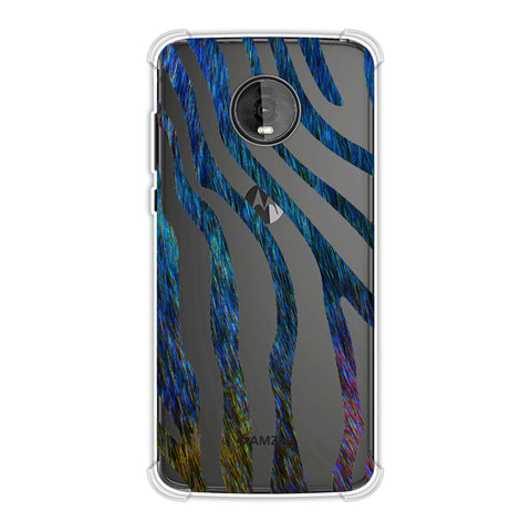Zebra - Rainbow Stripes Hair Effect Soft Flex Tpu Case For Motorola Moto Z4