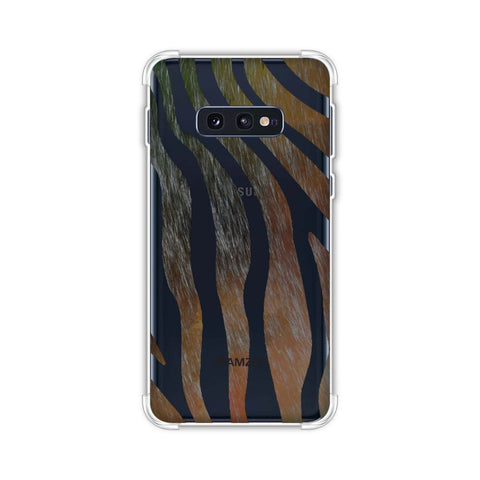 Zebra - Dark Rainbow Stripes Hair Effect Soft Flex Tpu Case For Samsung Galaxy S10e
