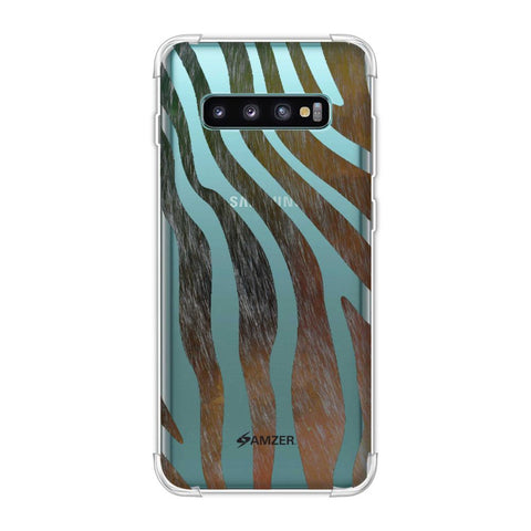 Zebra - Dark Rainbow Stripes Hair Effect Soft Flex Tpu Case For Samsung Galaxy S10 Plus
