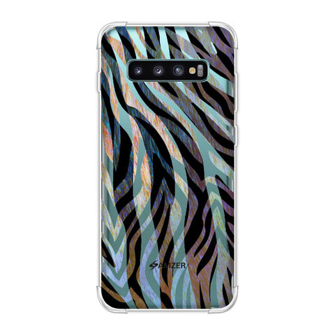 Zebra - Rainbow Stripes Hair Overlap Pattern Soft Flex Tpu Case For Samsung Galaxy S10 Plus