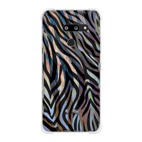 Zebra - Rainbow Stripes Hair Overlap Pattern Soft Flex Tpu Case For LG G8 ThinQ