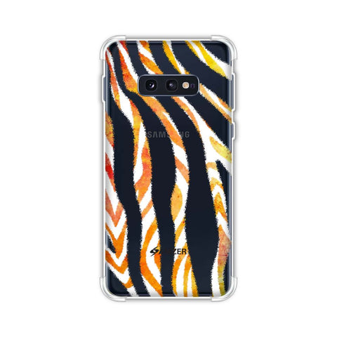 Zebra - Black And Organic Watercolour Stripes Hair Overlap Pattern Soft Flex Tpu Case For Samsung Galaxy S10e