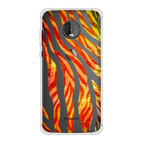 Zebra - Black And Organic Rainbow Stripes Hair Overlap Pattern Soft Flex Tpu Case For Motorola Moto Z4