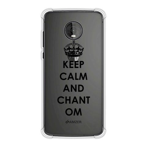 Keep Calm - Chant Om Soft Flex Tpu Case For Motorola Moto Z4