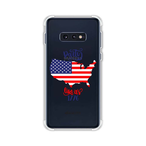 USA Flag - Party Like Its 1776 Soft Flex Tpu Case For Samsung Galaxy S10e