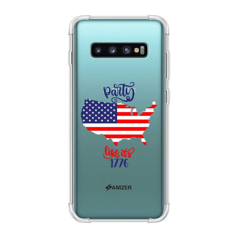 USA Flag - Party Like Its 1776 Soft Flex Tpu Case For Samsung Galaxy S10 Plus