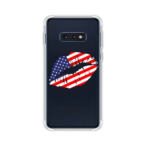 USA Flag - Kiss Mark Soft Flex Tpu Case For Samsung Galaxy S10e