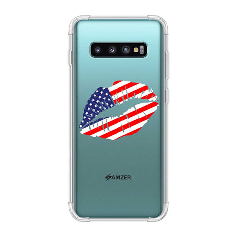 USA Flag - Kiss Mark Soft Flex Tpu Case For Samsung Galaxy S10 Plus