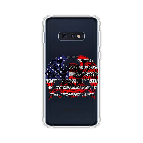 USA Flag - Bald Eagle Soft Flex Tpu Case For Samsung Galaxy S10e