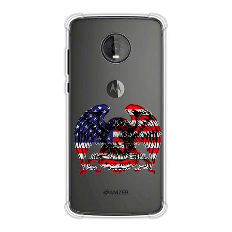 USA Flag - Bald Eagle Soft Flex Tpu Case For Motorola Moto Z4