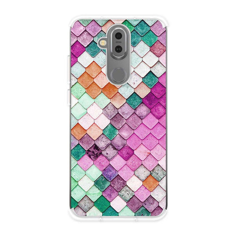 Diamond Lattice Soft Flex Tpu Case For Nokia 7.1 Plus