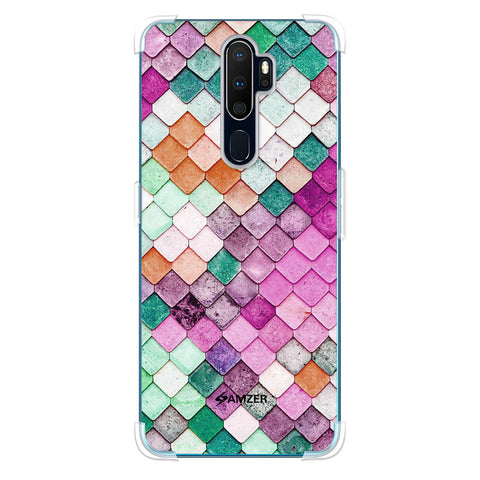 Diamond Lattice Soft Flex Tpu Case For Oppo A9 2020