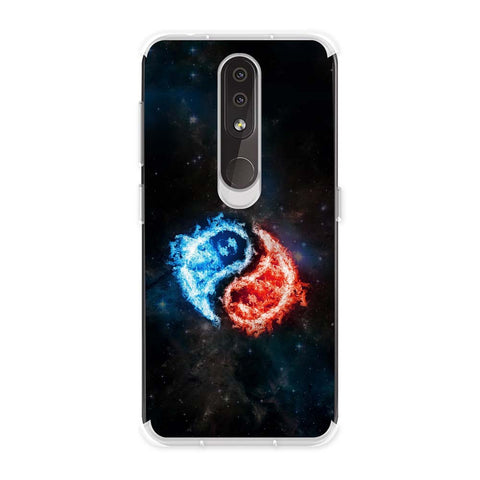 Element - Fire & Water Soft Flex Tpu Case For Nokia 4.2