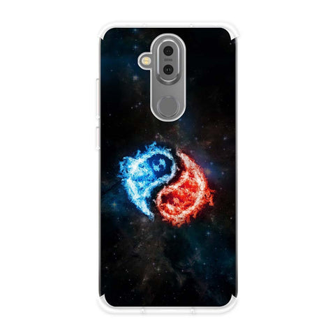 Element - Fire & Water Soft Flex Tpu Case For Nokia 7.1 Plus