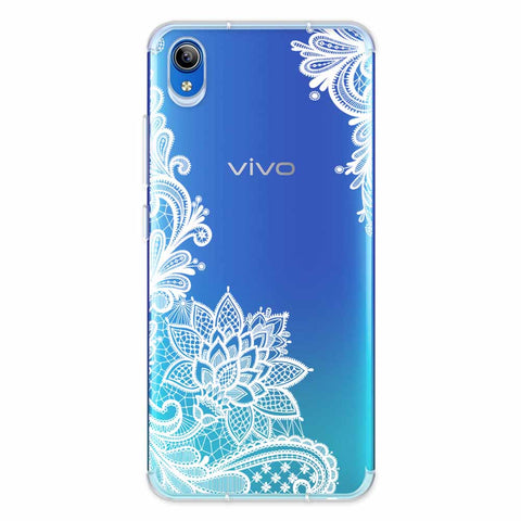 Floral Pattern B/W Soft Flex Tpu Case For Vivo Y91i
