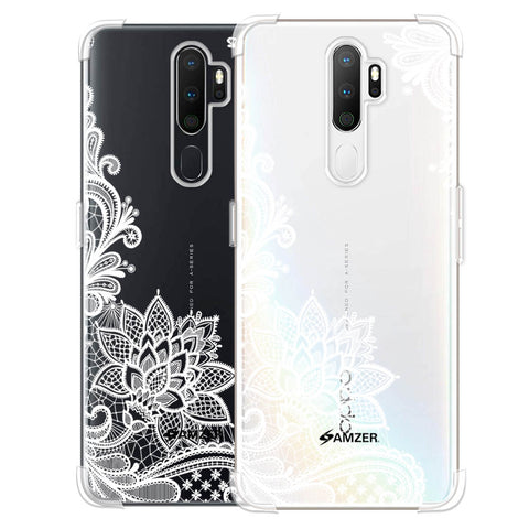 Floral Pattern B/W Soft Flex Tpu Case For Oppo A5 2020