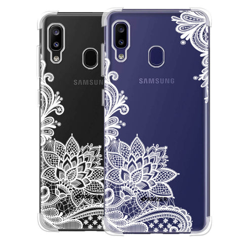 Floral Pattern B/W Soft Flex Tpu Case For Samsung Galaxy M10s