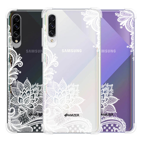 Floral Pattern B/W Soft Flex Tpu Case For Samsung Galaxy A50s