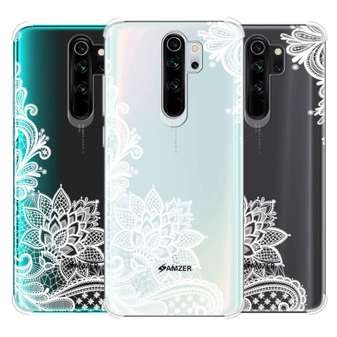 Floral Pattern B/W Soft Flex Tpu Case For Redmi Note 8 Pro