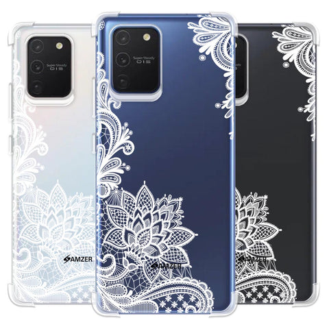 Floral Pattern B/W Soft Flex Tpu Case For Samsung Galaxy S10 Lite