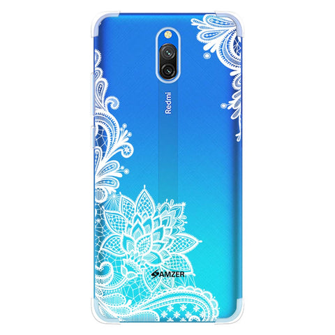 Floral Pattern B/W Soft Flex Tpu Case For Redmi 8A Dual