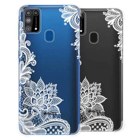 Floral Pattern B/W Soft Flex Tpu Case For Samsung Galaxy M31