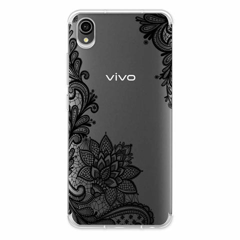 Floral Pattern B/W 1 Soft Flex Tpu Case For Vivo Y90