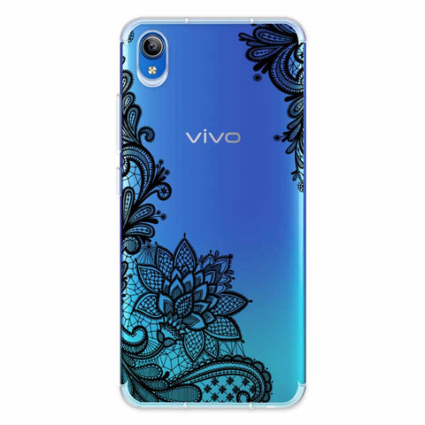 Floral Pattern B/W 1 Soft Flex Tpu Case For Vivo Y91i