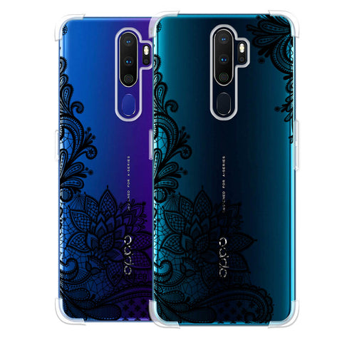 Floral Pattern B/W 1 Soft Flex Tpu Case For Oppo A9 2020